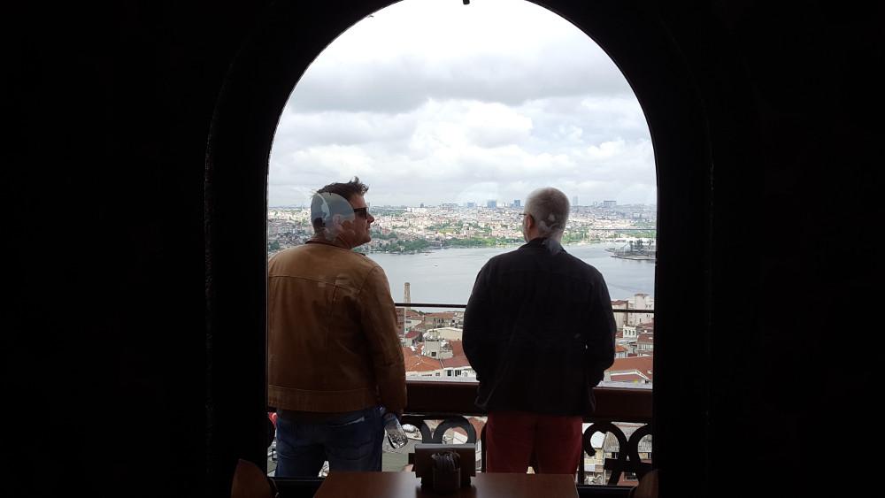 Kusber und Schalli auf dem Galata Turm