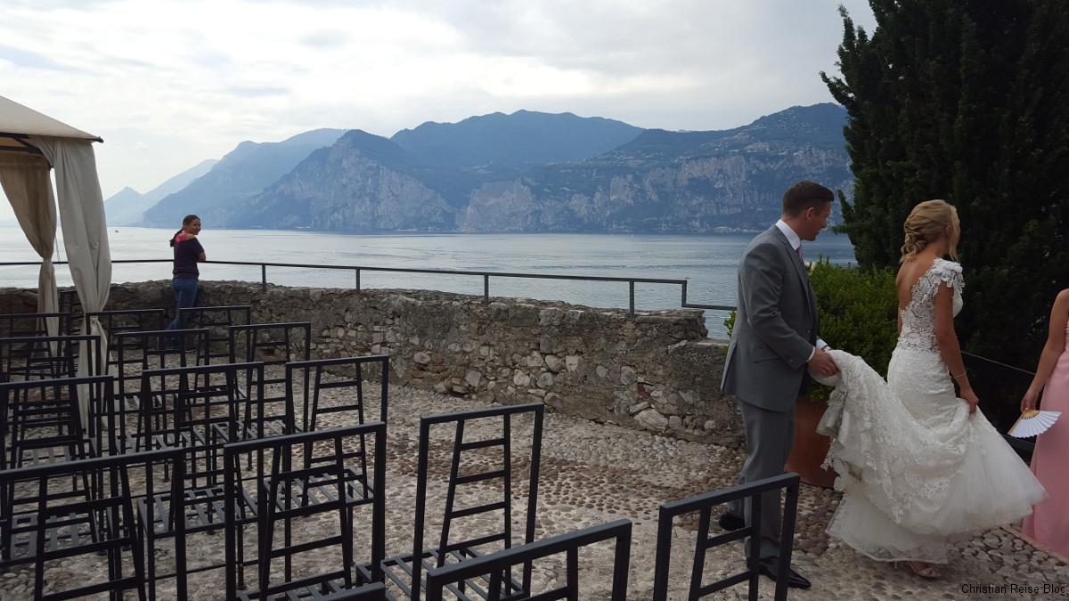 Brautpaar auf der Burg in Malcesine