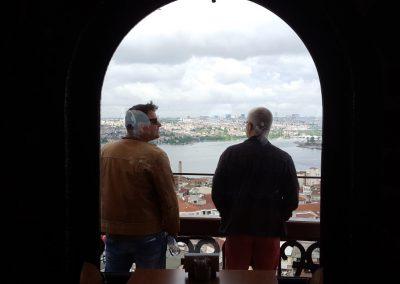 Kusber und Schalli auf Galata Turm
