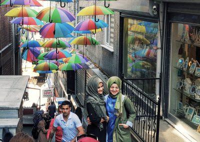 bunte Schirme Istanbul