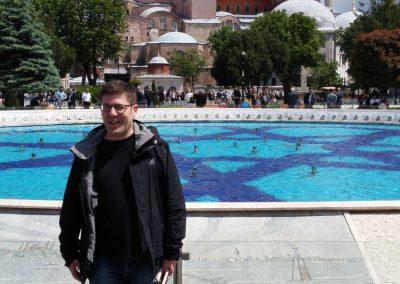 Fassti vor blauer Moschee