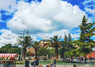 Park vor Hagia Sophia