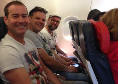 im Flugzeug nach Istanbul