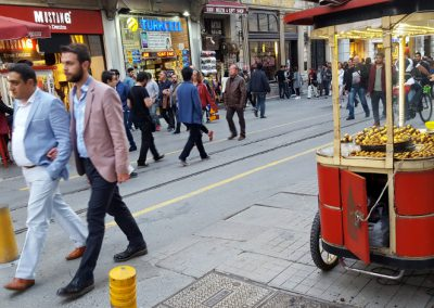 Maronen Verkäufer In Istanbul