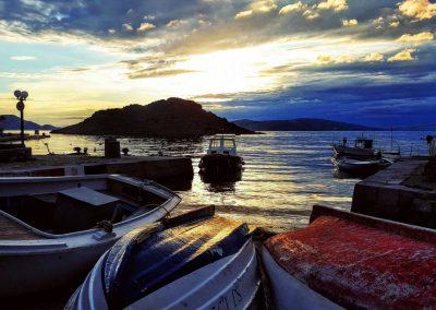 Sonnenuntergang im Hafen von Sveti Juraj