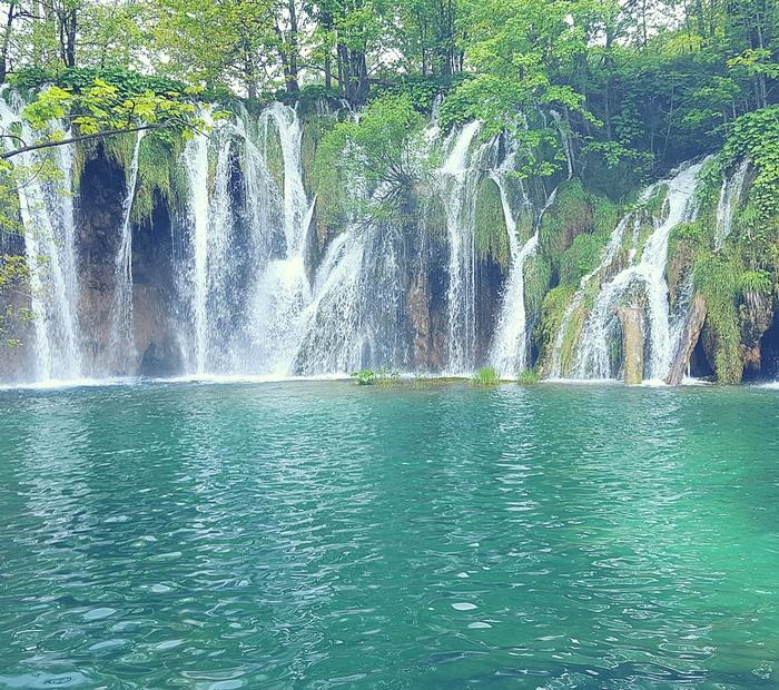 Wasserfall Plivizer Seen