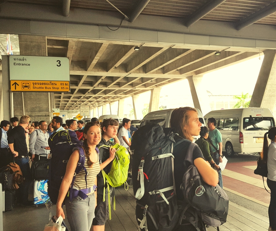 Ankunft Flughafen Bangkok