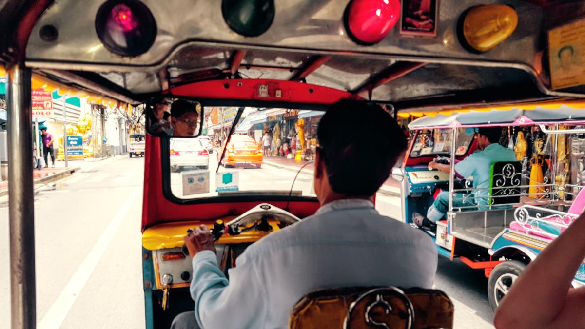 Tuk Tuk Fahrer in Bangkok