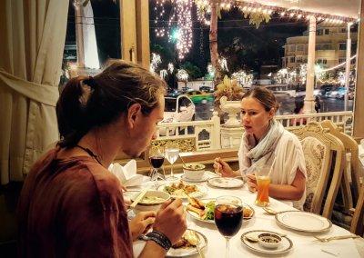 Abendessen im Methavalai Sorndaeng