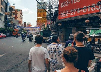 Yaowarat in Chinatown in Bangkok