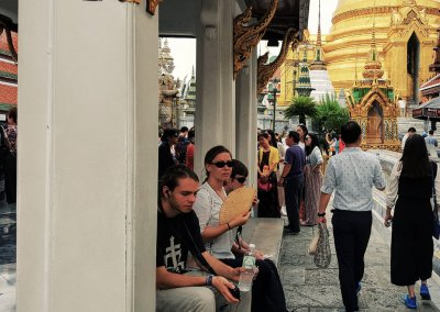 Pause machen im Wat Phra Kaeo