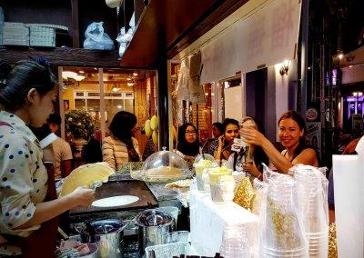 Durian Eis-Stand im Asiatique in Bangkok