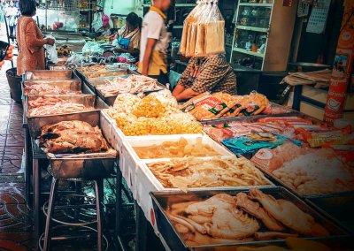 Fisch am Markt in Chinatown
