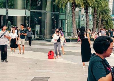 Models vor dem Siam Center