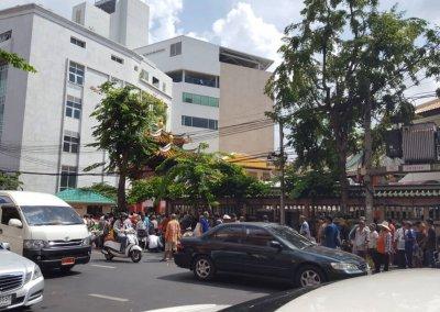 Menschen in Bangkok