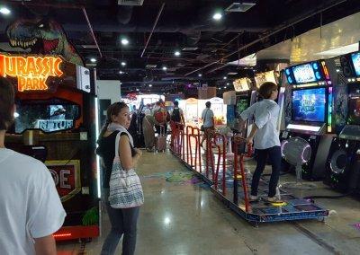 Spielhalle im MBK in Bangkok