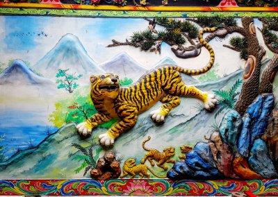 Tiger im Leng-Buai-Ia-Schrein
