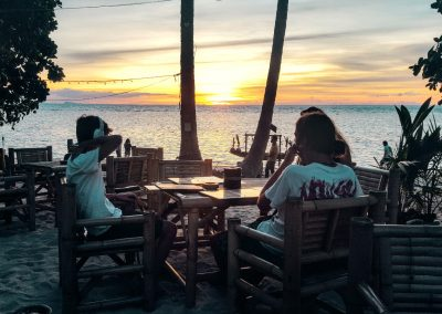 Sonnenuntergang im Seaflower's Restaurant