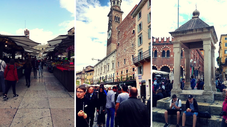 Leben auf dem Piazza del Erbe