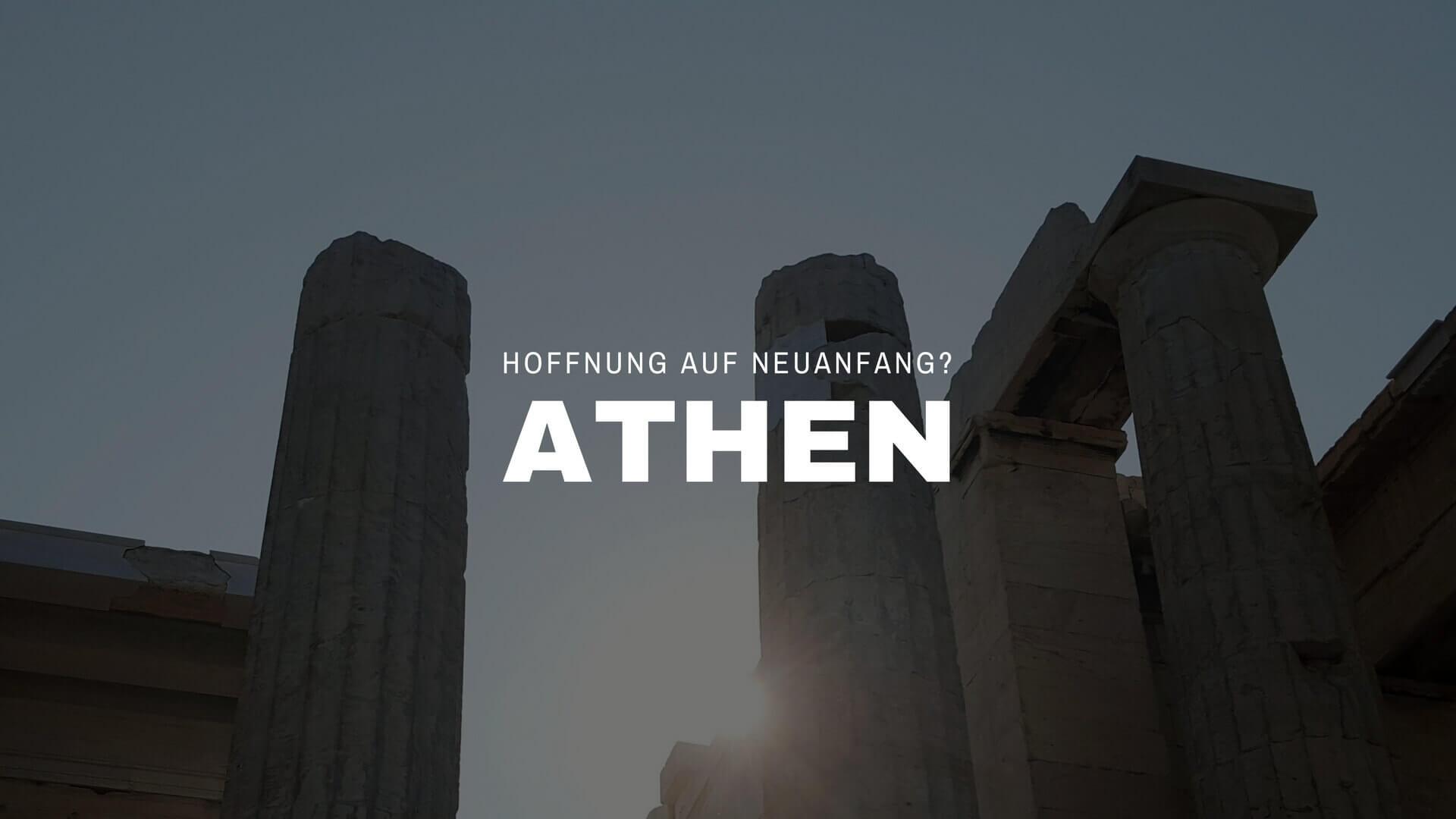 Athen Sonnenaufgang über Akropolis