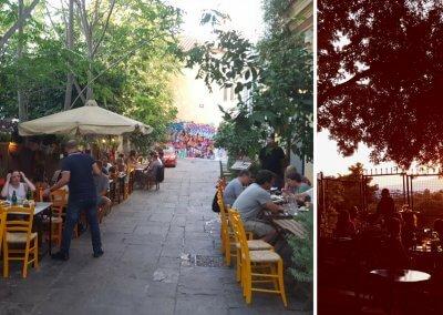 Tavernen in der Plaka von Athen
