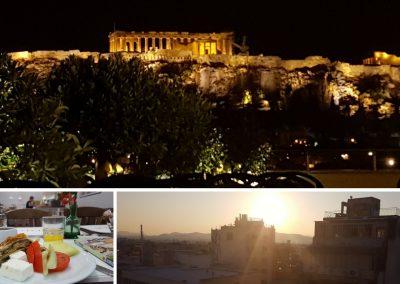 Blick vpm Attalos Hotel Athen