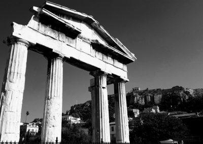 Blick zur Akropolis