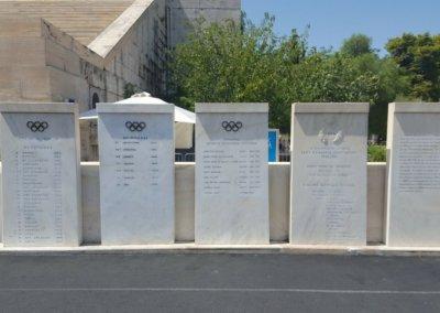 Marmortafeln im Panathinaiko-Stadion