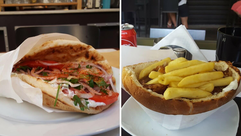 Pitta und Souvlaki in Athen