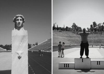 Sportler im Panathinaiko-Stadion