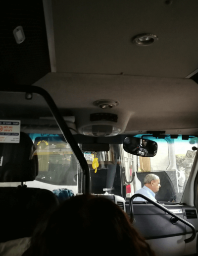Blick aus Sherut Taxi