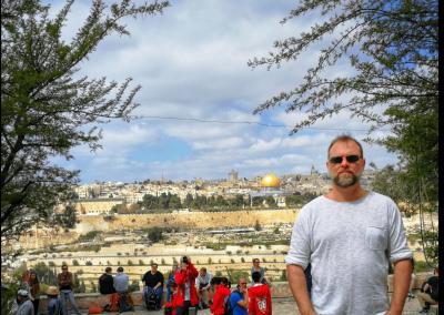 Christian vor Jerusalem