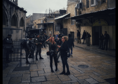 Fotografen an der Via Dolorosa