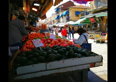Gemüse am Yehuda Market