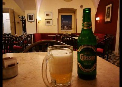 Goesser Bier im Hospiz in Jerusalem