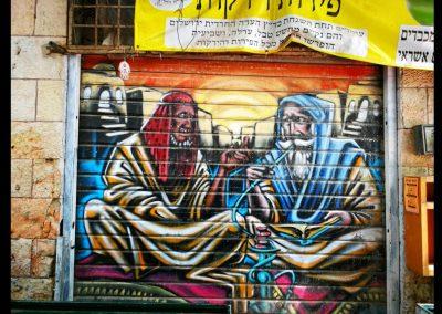 Grafitti am Yehuda Market