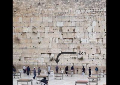 Ich bete an der Klagemauer