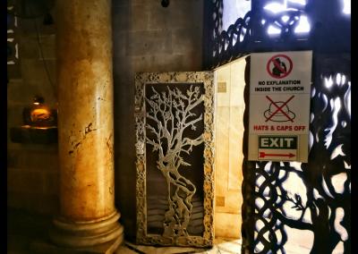 Olivenbaum Tür am Garten Getsemani