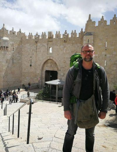 Christian Kolb vor Damaskus-Tor
