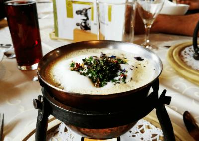 Käsesuppe im Genießer Restaurant Sennerland