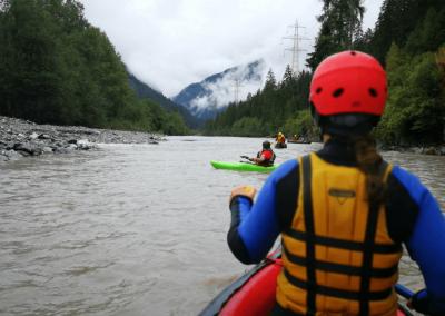 Kayak fahren am Inn