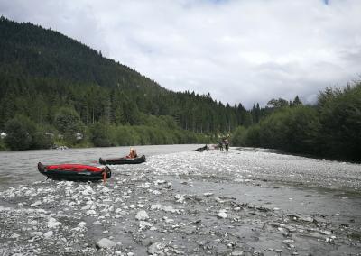 Pause mit Kayak am Lech