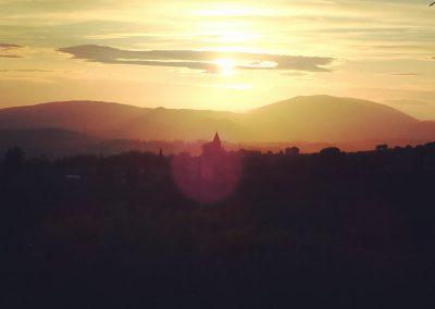 Sonnenuntergang in Umbrien