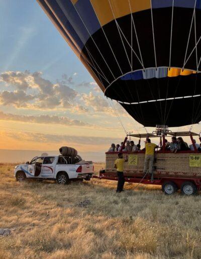 Yoyager Ballon in Kappadokien wirdverladen