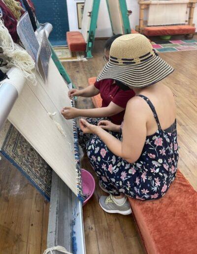 Teppich knüpfen im Avanos Hali