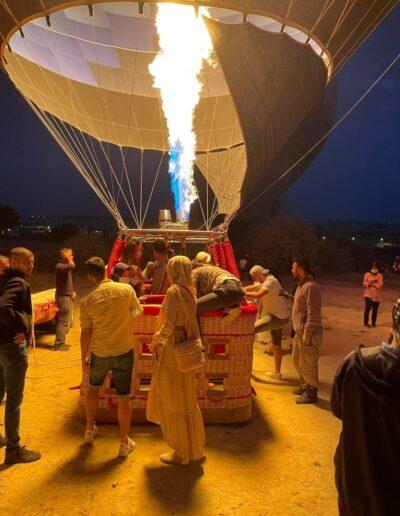 Einstieg in den Heißluftballon